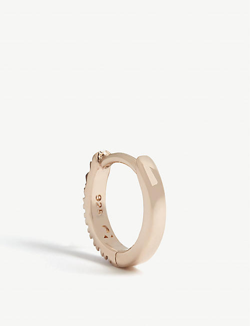 ROSIE FORTESCUE JEWELLERY Rose gold single hoop earring