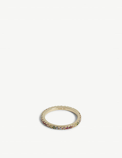 ROSIE FORTESCUE JEWELLERY 18ct gold-plated stacking ring