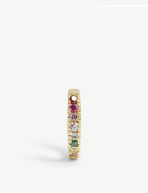 ROSIE FORTESCUE JEWELLERY Rainbow stones hoop earring