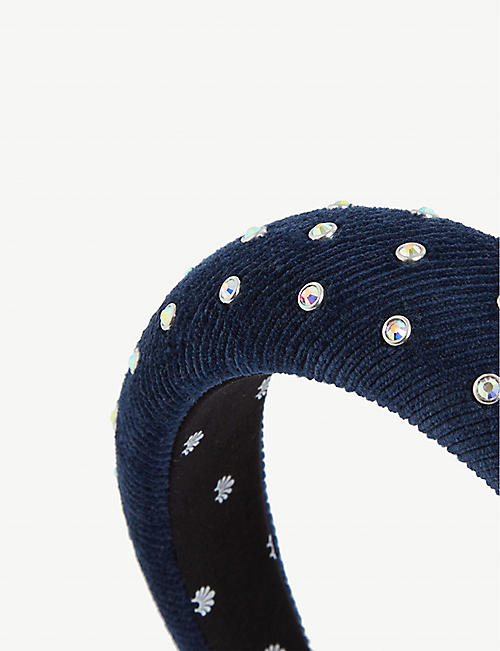 LELE SADOUGHI Padded velvet with crystals headband