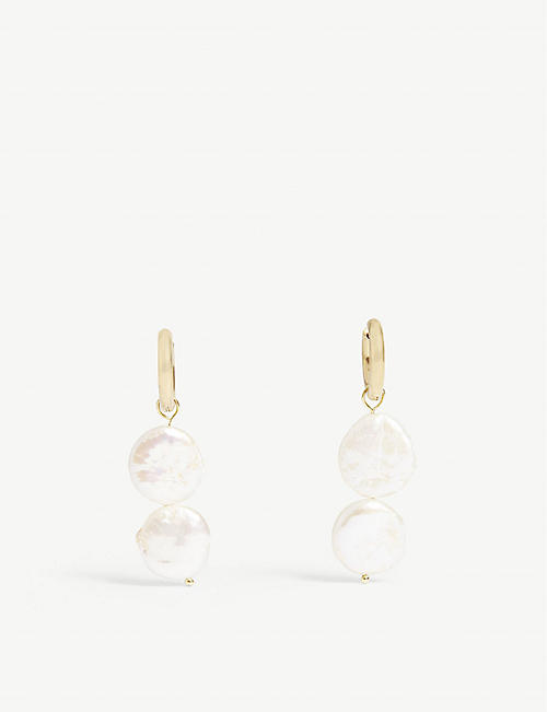 SANDRALEXANDRA Pearl drop earrings