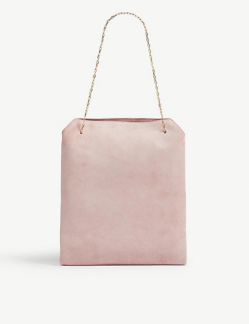 THE ROW Suede lunch bag