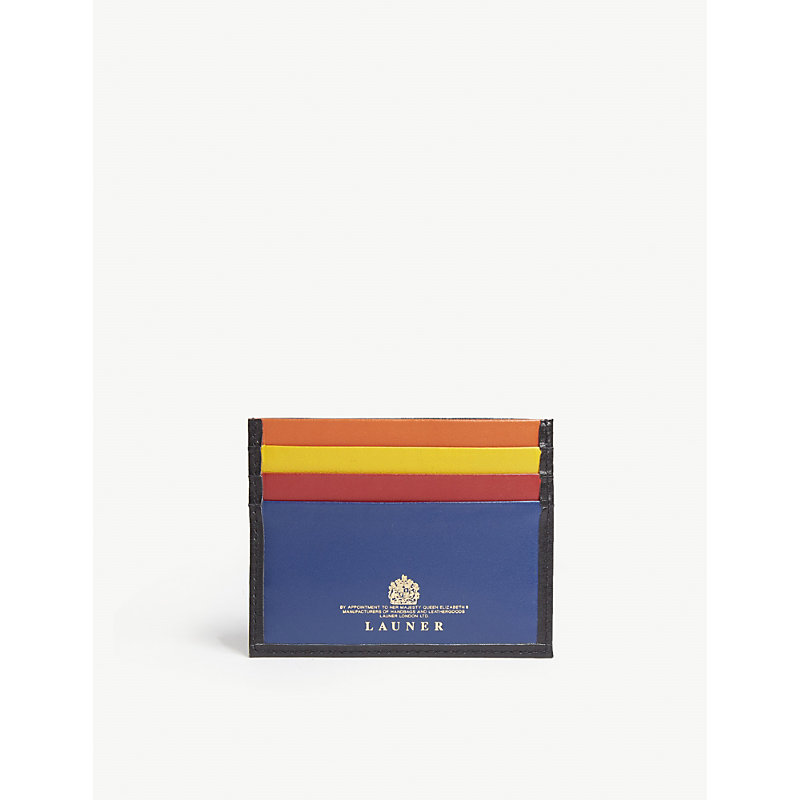 LAUNER Leather Card Holder in Multi