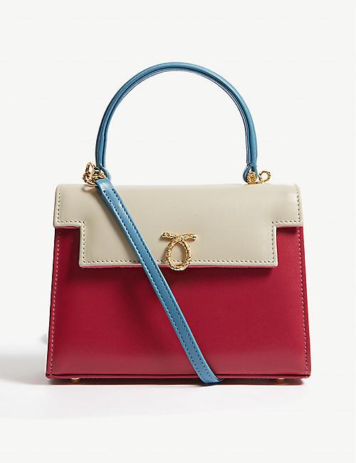 79ffca177fd0c LAUNER Judi leather shoulder bag