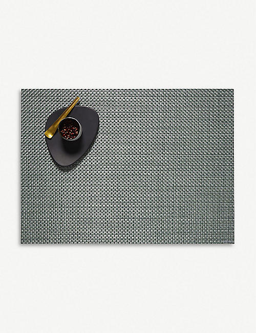 CHILEWICH: Basketweave rectangular vinyl placemat 36x48cm