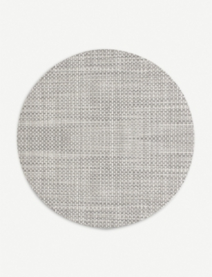 CHILEWICH Basketweave round placemat 38 cm