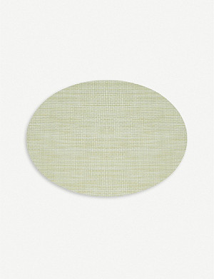 CHILEWICH Mini basketweave oval placemat 36x49cm