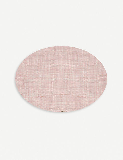 CHILEWICH: Mini basketweave oval placemat 36x49cm