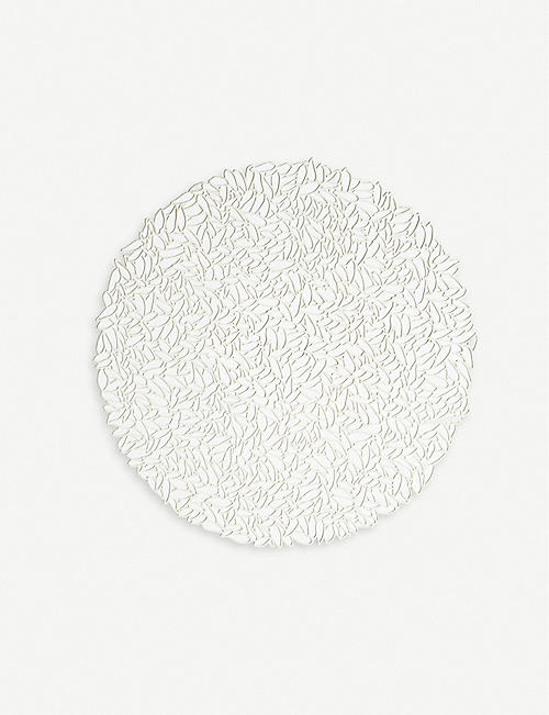 CHILEWICH: Petal cut-out round woven placemat 38 cm
