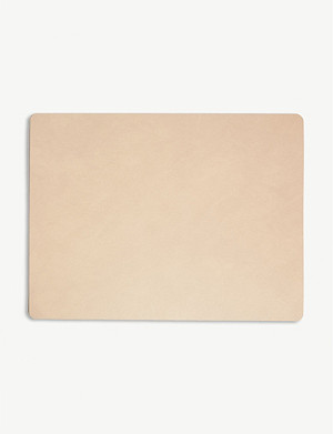 LIND DNA Nupo rectangle leather placemat 35cm x 45cm