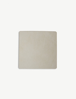 LIND DNA Nupo square leather coaster