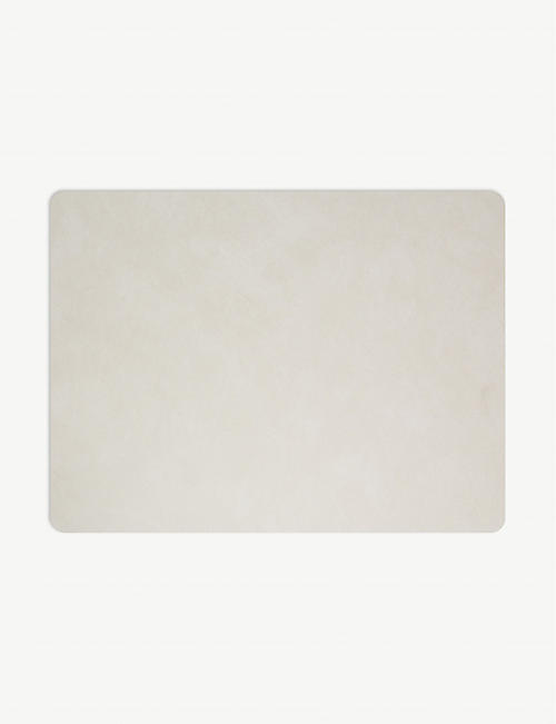 LIND DNA: Nupo rectangle leather placemat