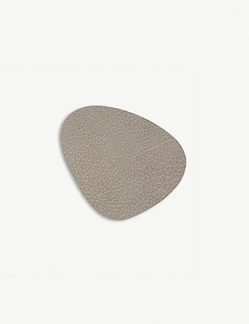 LIND DNA Hippo Curve leather coaster
