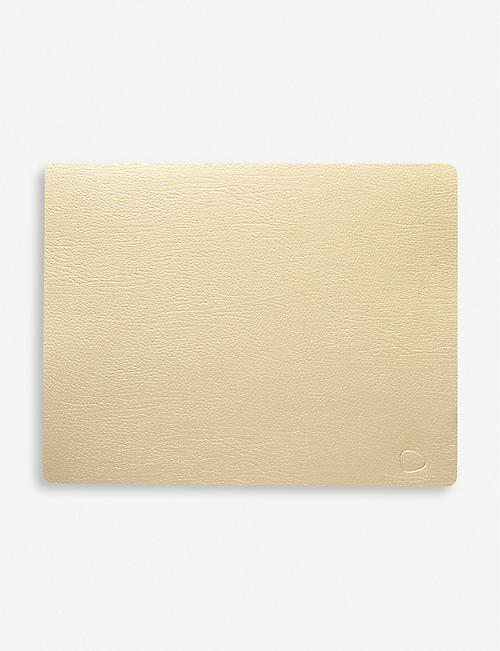 LIND DNA Square recycled-leather and rubber tablemat
