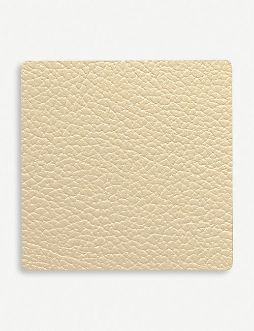 LIND DNA Square recycled-leather coaster