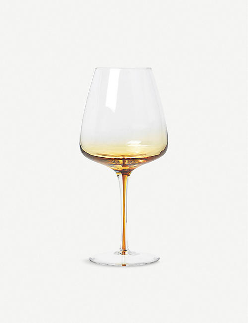BROSTE: Amber red wine glass 650ml