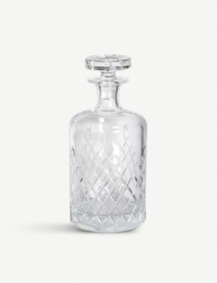 SOHO HOME Barwell large crystal decanter 750ml