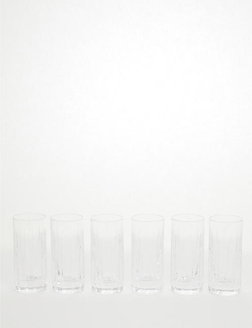 SOHO HOME: Roebling cut crystal shot glass set of six