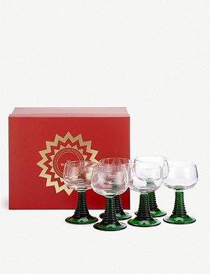 THE WOLSELEY Roemer glasses set of six