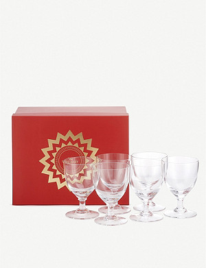 THE WOLSELEY Crystal white wine glasses set of six