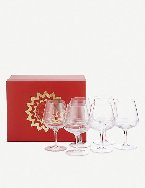 THE WOLSELEY: Crystal white wine glasses set of six