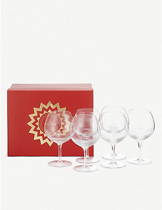 THE WOLSELEY: Crystal red wine glasses set of six