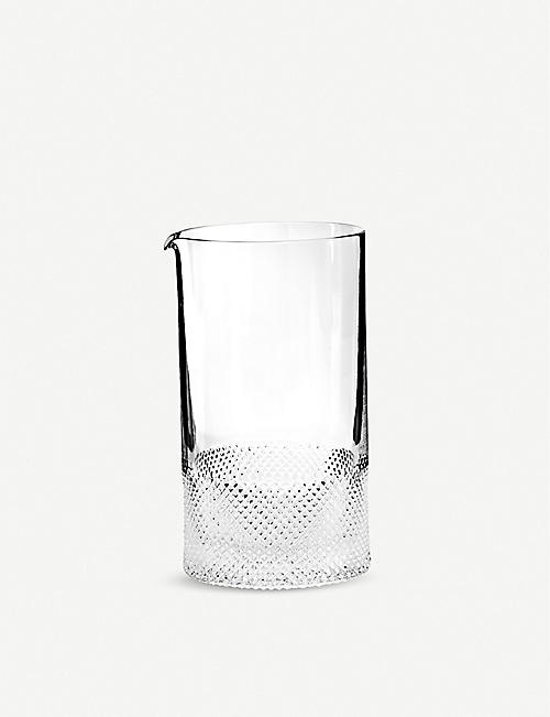 RICHARD BRENDON Diamond cut crystal double mixing glass 15.5cm