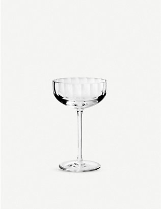 RICHARD BRENDON: Fluted crystal small champagne coupe 14cm