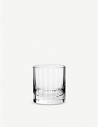RICHARD BRENDON: Fluted crystal double old fashioned glass 9cm