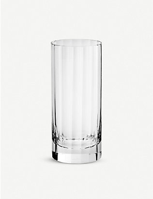 RICHARD BRENDON: Fluted crystal double highball glass 15.5cm