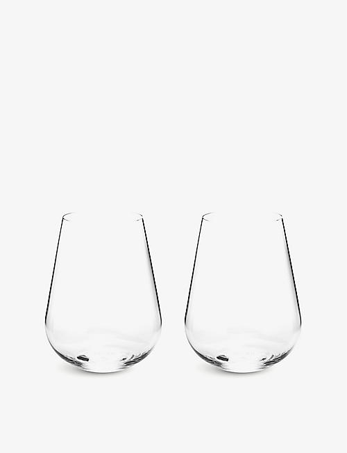 RICHARD BRENDON: Jancis Robinson water glass set of 2