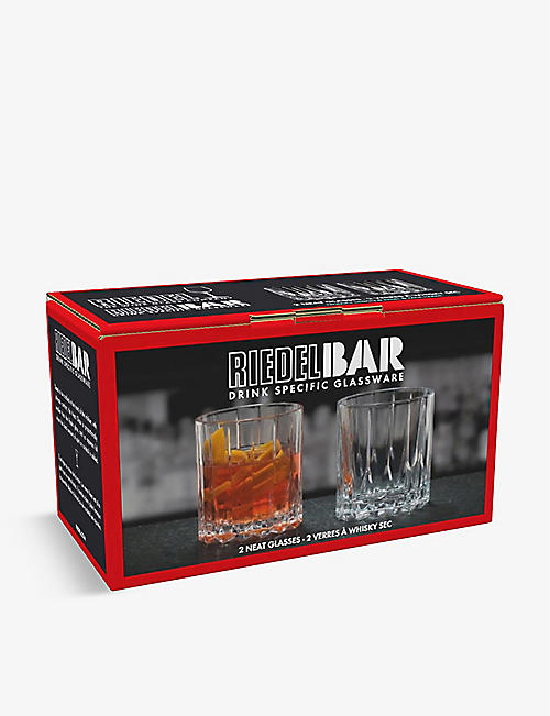 RIEDEL Drinks Specific Glassware set of two crystal neat glasses