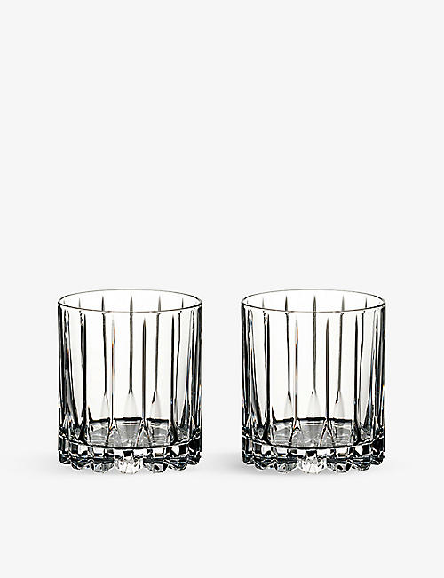 RIEDEL: Drinks Specific Glassware set of two crystal neat glasses