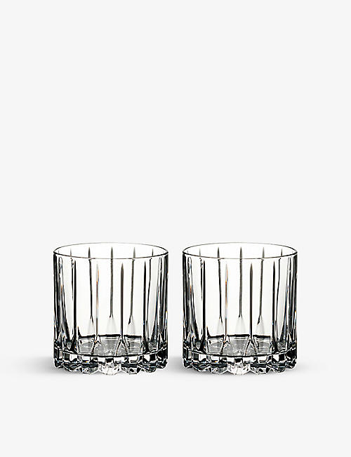RIEDEL Drinks Specific Glassware set of two crystal rocks glasses