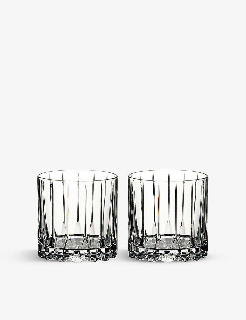 RIEDEL: Drinks Specific Glassware set of two crystal rocks glasses