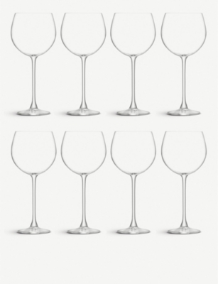 LSA Balloon glass goblets 525ml set of eight