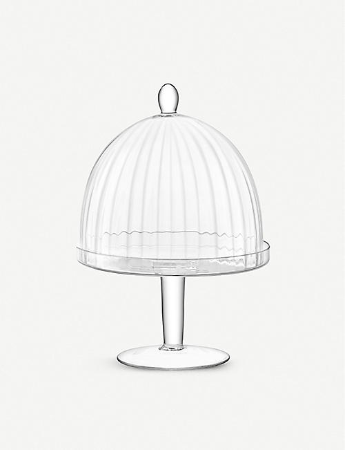 LSA Aurelia glass dome and stand 34cm