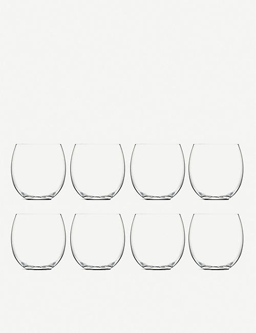 LSA Balloon glass tumblers 450ml set of eight