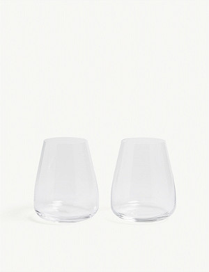 LSA Wine Culture water glass set of two 590ml