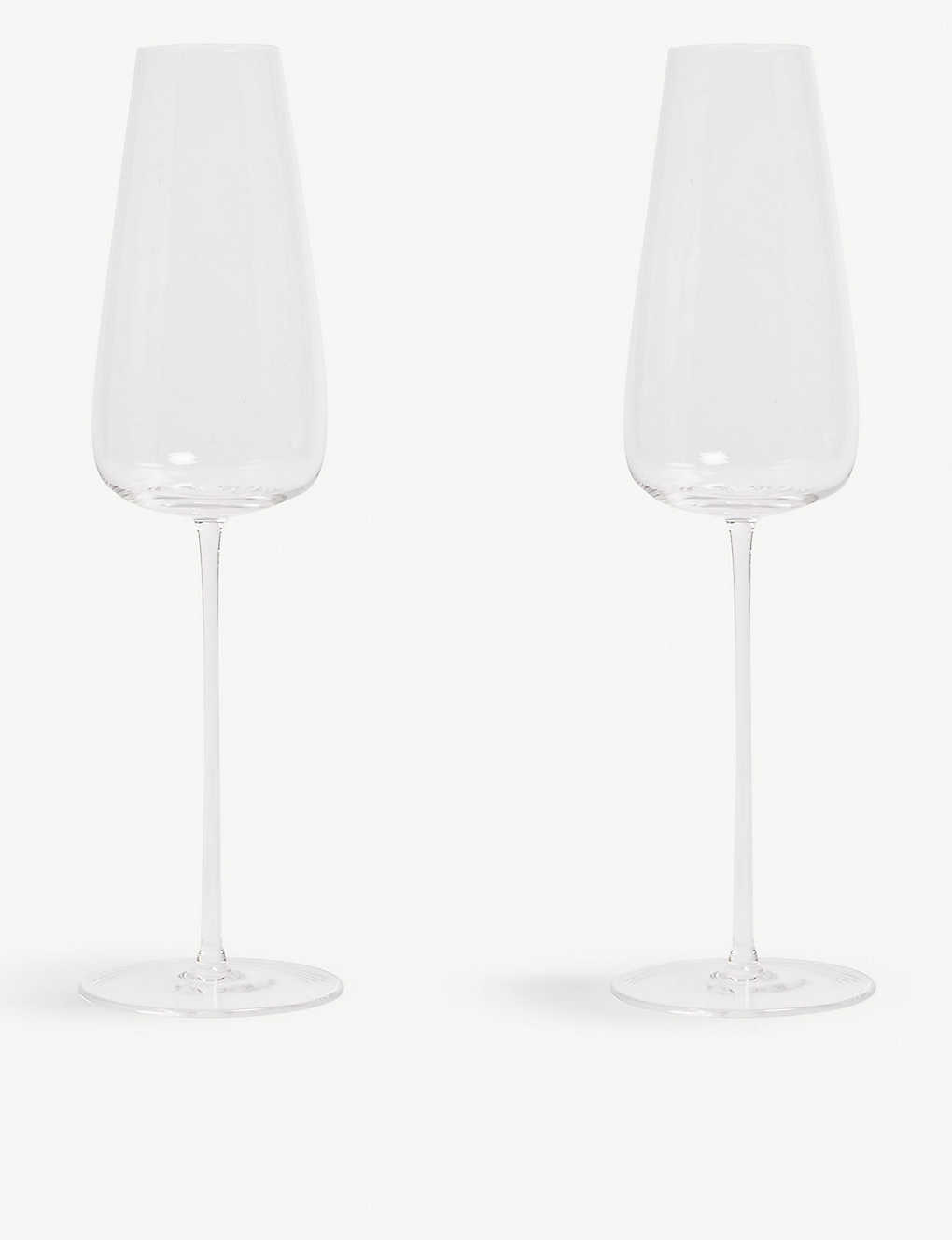 LSA: Wine Culture two Champagne glass flutes