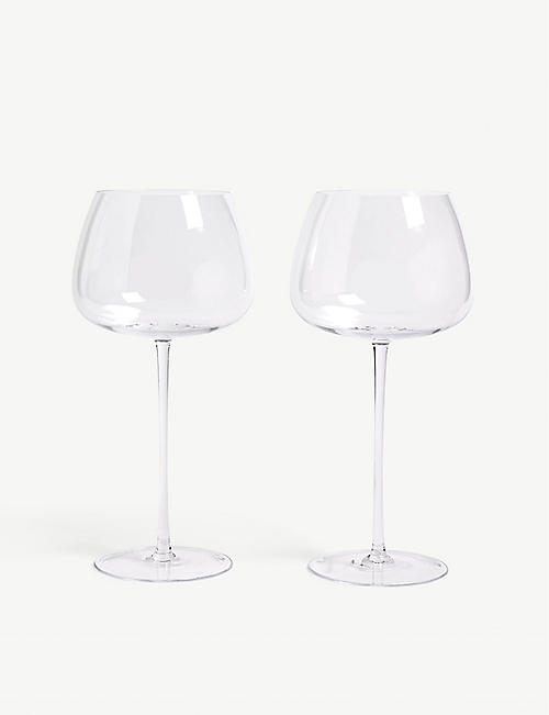 LSA Red wine balloon glasses set of two 590ml