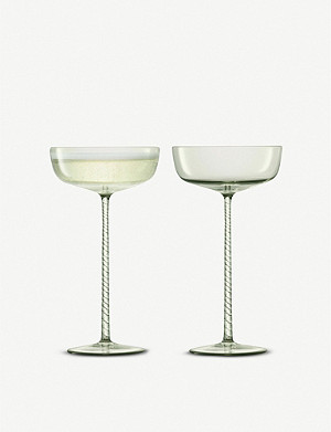 LSA Champagne Theatre glass champagne saucers set of two