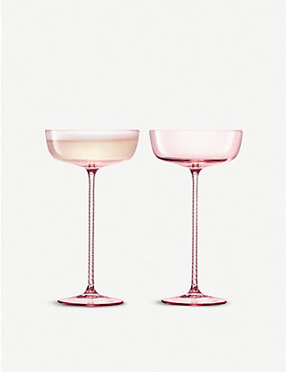 LSA: Champagne Theatre glass champagne saucers set of two