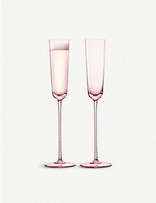 LSA: Champagne Theatre Champagne flute set of two