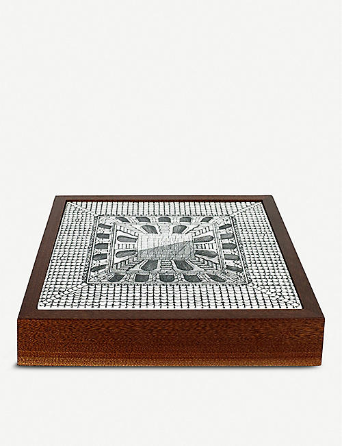 FORNASETTI Courtyard ceramic and briarwood chess board