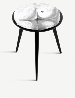 FORNASETTI Bee on My Back lacquered wooden stool 46cm