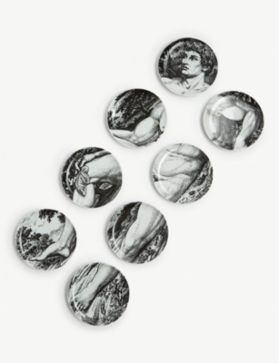 FORNASETTI Adamo coasters set of eight