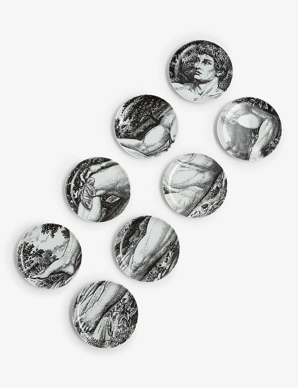 FORNASETTI: Adamo coasters set of eight