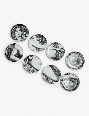 FORNASETTI Eve Genesis porcelain coasters set of 8