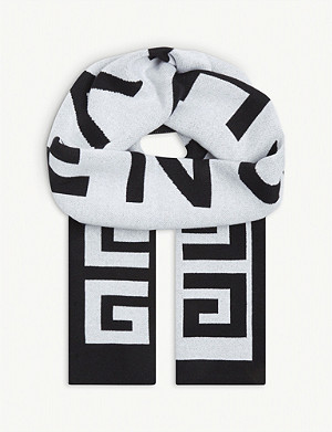 GIVENCHY Logo cotton scarf
